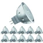 10 x 28156.10 Paulmann 12V Fassung LED Quality Reflektor 4W GU5, 3 12V Warmweiß 640cd/25°