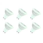 6-er Set LED Leuchtmittel mit Linse GU10 3W 230V warm weiss 230 Lumen