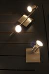LED Wand- Deckenleuchte Eisengebürstet GU10 230V warmweiß 3W