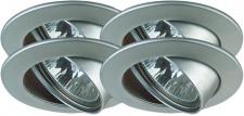 Premium EBL Set schwenkbar 4x35W 150VA 230/12V GU5, 3 51mm Chrom matt/Alu Zink