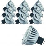 10 x 28038.10 Paulmann 12V GU5, 3 Fassung LED Powerline 1, 5W Warmweiß 3200K