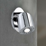 4457.01.01.0000 Wofi 6, 5W GU10 LED Wandleuchte Linox 3.000 K 360 Lumen Chrom
