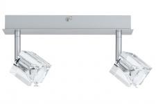 600.28 Paulmann Deckenleuchten Spotlights IceCube Balken 2x35W GU4 Chrom matt 230/12V 60VA Metall/Glas