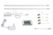 2423-300F Briloner Superline PROFIL 2x15 LEDs 8, 6W 2x40cm Fernbedienung Farbwech