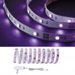 Function BlackLight LED Strip Set 3m 18W 230/12V DC Weiß Kunststoff