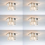 LED Kristall Einbauleuchten 6er Set inkl. LED G4 Leuchtmittel Tageslichtweiß oder Warmweiß