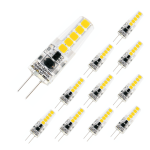 10er Set LED Leuchtmittel G4 12V TÜV Geprüft 1, 8W AC/DC 4000 Kelvin 180 Lumen