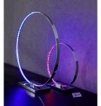 WOFI Tischleuchte 1-flammig Cosmo 1x LED, 18 W, 360 Lumen, Energieeffizenzklasse B, RGB LED ink. Fernbedienung chrom