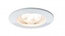 Premium EBL Set Coin klar rd starr LED 1x6, 8W 2700K 230V 51mm Ws matt/Alu Zink