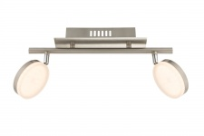 7893.02.54.0000 Wofi Deckenlampe Hook LED Deckenleuchte 2 x 8w 3.000 K 1.200 lm Chrom