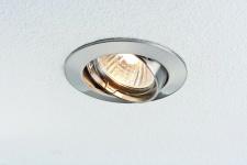 10 x 7W LED Einbauleuchten schwenkbar 51mm Eisen gebürstet/Alu Zink Warmweiß