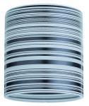 600.05 Paulmann Lampenschirme DecoSystems Schirm Zyli max.50W Weiß/Schwarz gestr.