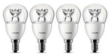 4x Philips LED-Lampe 8718291743439 ersetzt 25 W, E14-Sockel, 2700 Kelvin, 4 Watt, 250 Lumen, warmweiß