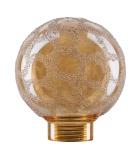 Glas Globe 60 Minihalogen Krokoeis gold