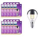 10x 8718696750827 Philips LED Tropfen 4W E14 230V Kopfspiegel 2700K Leuchtmittel