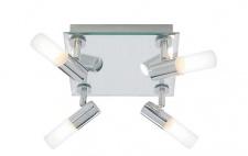 TP0253 TopLicht Deckenleuchten IP44 max.25W G9 mattes Chrom 230V Metall/Glas