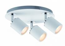 603.48 Paulmann Deckenleuchten Spotlight Tube IP44 Rondell 3x3, 5W GU10 Weiß/Chrom 230V Metall