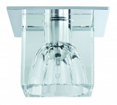 Quality EBL Set Glassy Cube 3x10W 60VA 230/12V G4 83/83mm Klar/Chrom Gls/Metall