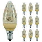 10x 280.90 Paulmann E14 Fassung LED Kerze 1, 4W E14 Krokoeis gold