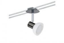 975.21 Paulmann 12V Einzelteile Rail System Light&Easy Spot Sheela 1x35W GU5, 3 Schwarzchrom/Opal 12V Metall/Glas