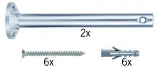178.06 Paulmann Seil Zubehör Wire System L&E Umlenker/Abhängung zum Aufschrauben 1 Paar 165mm Chrom Met