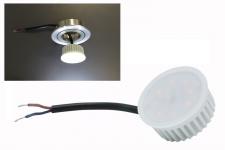 5W LED Modul Warmweiß 230V 3000 Kelvin 400 Lumen für Einbauleuchten - geringe Einbautiefe - ersetzt ca. 40W