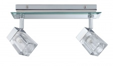 WallCeiling Trabani IP44 2x20W G9 Chrom/Transparent 230V Metall/Glas