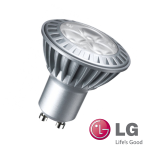 10 x LG GU10 Fassung 3, 5W Leuchtmittel 230V Power LEDs Warm Weiß