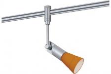 Paulmann 972.72 Schienen System L&E Phantom Spot Phari 40W G9 Chrome Matt/orange 230V Metall/Plastik/Glas