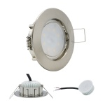 LED Einbauleuchte IP44 Eisen Gebürstet 5W 3000K 230V Modul flache Einbautiefe 35mm