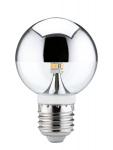 282.82 Paulmann E27 Fassung LED Globe 60 Kopfspiegel 2, 5W E27 230V Silber 2700K