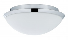 WallCeiling Biabo IP44 max.18W 250mm E27 Chrom/Weiß 230V Metall/Acryl