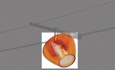 Ersatzglas für Paulmann Deco Systems Zambaioni orange transp.