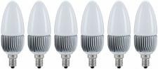 6er Set paulmann LED Kerze 1x3W E14 Warmweiß ca. 20W Licht