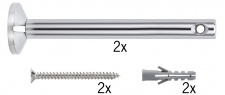 Wire System L&E Umlenker/Abhängung zum Aufschrauben 1 Paar 165mm Chrom Met