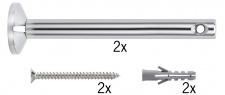 Wire System L&E Umlenker/Abhängung zum Aufschrauben 1 Paar 165mm Chrom