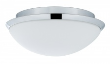 WallCeiling Biabo IP44 max.18W 250mm E27 Chrom/Weiß 230V Metall/Acryl