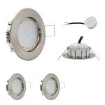 LED Einbauleuchte IP44 Eisen Gebürstet 5W 4000K 230V Modul flache Einbautiefe 35mm