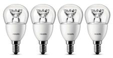 4-er Set - Philips LED-Lampe ersetzt 25 W, E14-Sockel, 2700 Kelvin, 4 Watt, 250 Lumen, warmweiß
