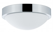 WallCeiling Falima IP44 max.18W 260mm E27 Chrom/Weiß 230V Metall/Acryl
