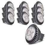 10 x LG LED Leuchtmittel GU5, 3 Fassung MR16 warmweiss 4W 2700k