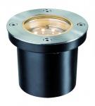 Special EBL Set Boden rund LED 3x1, 2W 2700K 6VA 230/12V 98mm Edelstahl/Metall