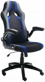 TOMASUCCI Design Büro Sessel TEAM, schwarz blau, Gaming Computer Büro Dreh Stuhl