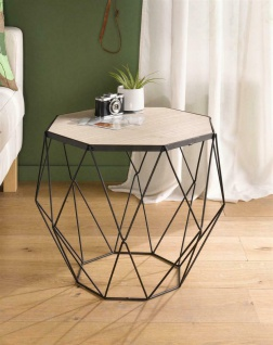 """Tisch ?Modern Living"""" aus Metall & Holz Design Couch Möbel Wohnzimmer"""