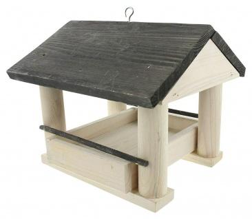 Vogelfutter Haus aus Holz, Kiefer, Vogel Futter Häuschen Villa Spender Station - Vorschau 3