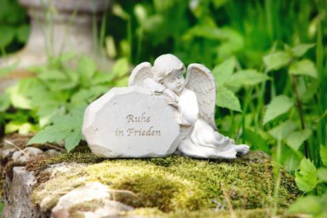 ENGEL 'Ruhe in Frieden' creme POLYRESIN DEKOENGEL STATUE ENGELSFIGUR NEU