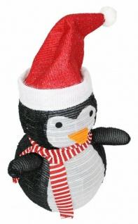 Pinguin mit LED Beleuchtung 70 cm hoch, Batterie betrieben, Garten Aussen Deko - Vorschau 3