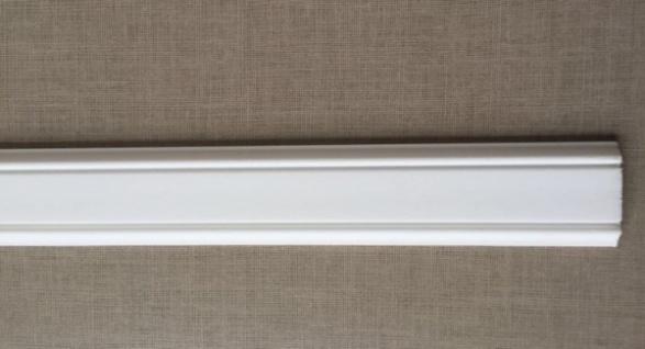 10m Decken Leisten 5x 2m PL6 Dekor Leiste 48 mm 3D Optik Zier Profil Styropor