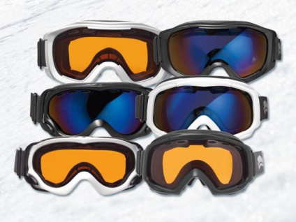 SKI & SNOWBOARD BRILLE schwarz mit orange Glas UV SCHUTZ NEU Anti Fog
