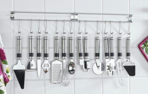 Küchen Hakenleiste doppel edelstahl hakenleiste 14 haken reling küchen leiste tuch